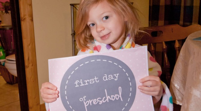 Cambree's First Day of Preschool