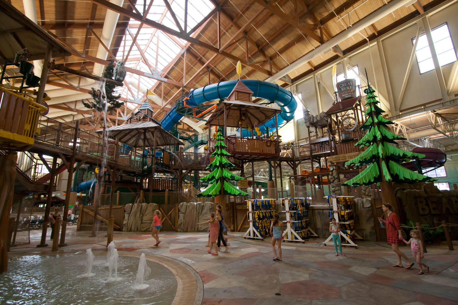 great wolf lodge niagara falls entry area