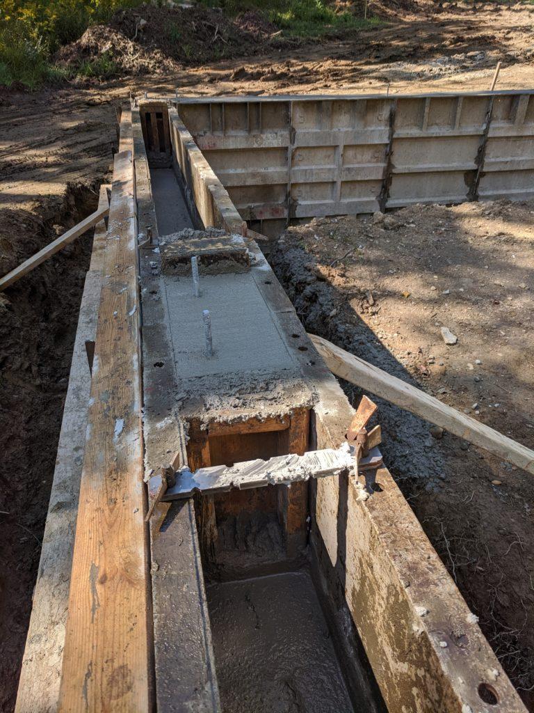 Garage foundation forms
