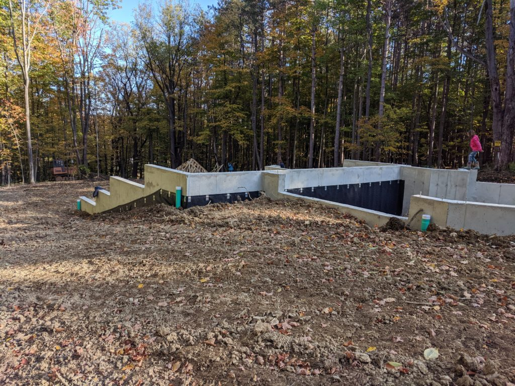 Backfilling and Grading - From the garage rear