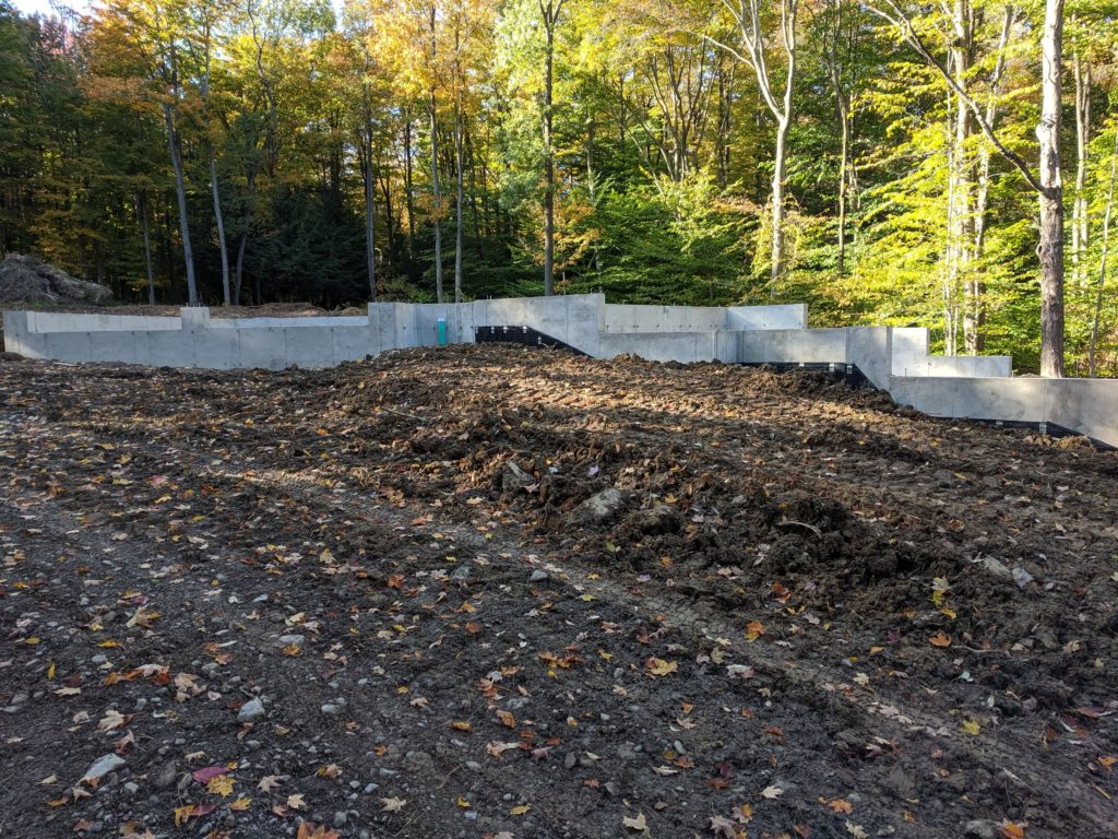 Backfilling and Grading - From the front
