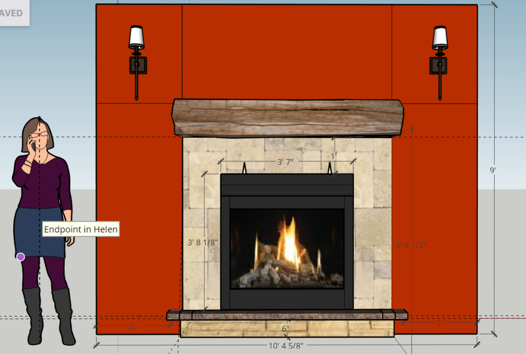 Fireplace Wall Sketchup