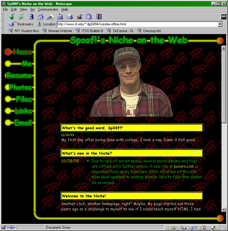 Sp00f!'s Niche on the Web